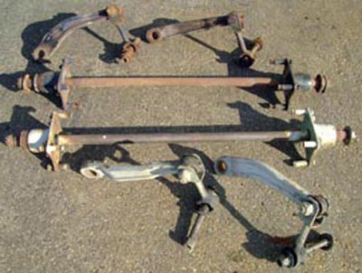 Unimog 406-416 Rear Sway Bars